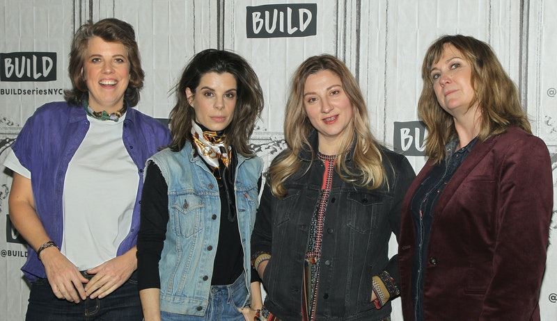 NEW YORK, NY - OCTOBER 30: (L-R) Actors Carolyn Clifford-Taylor, Meredith MacNeill, Aurora Browne and Jennifer Whalen attend the Build Series to discuss  at Build Studio on October 30, 2018 in New York City.  (Photo by Jim Spellman/WireImage)