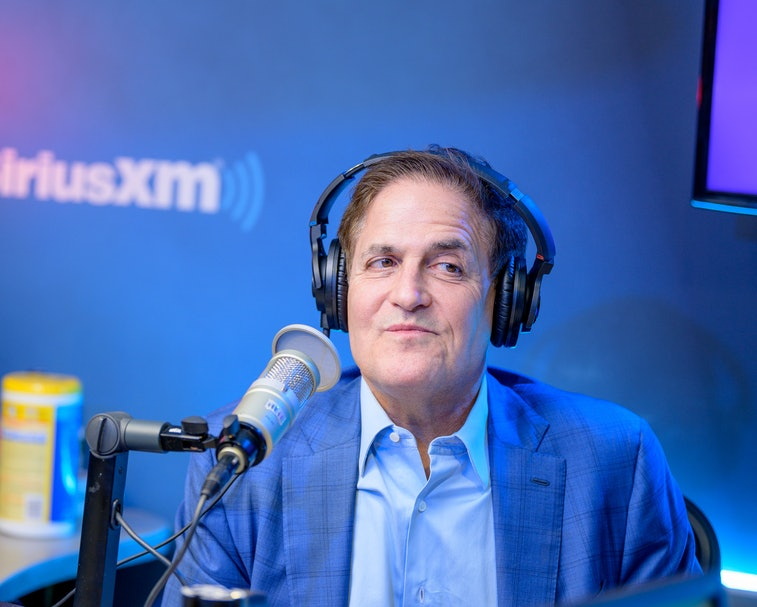 """NEW YORK, NEW YORK - FEBRUARY 25: (EXCLUSIVE COVERAGE) Mark Cuban visits """"Heather B Live"""" with host ..."""