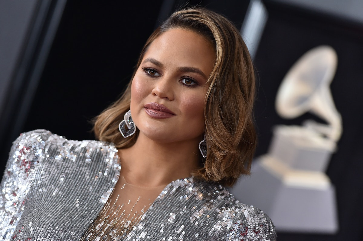 NEW YORK, NY - JANUARY 28:  Model Chrissy Teigen attends the 60th Annual GRAMMY Awards at Madison Square Garden on January 28, 2018 in New York City.  (Photo by Axelle/Bauer-Griffin/FilmMagic)
