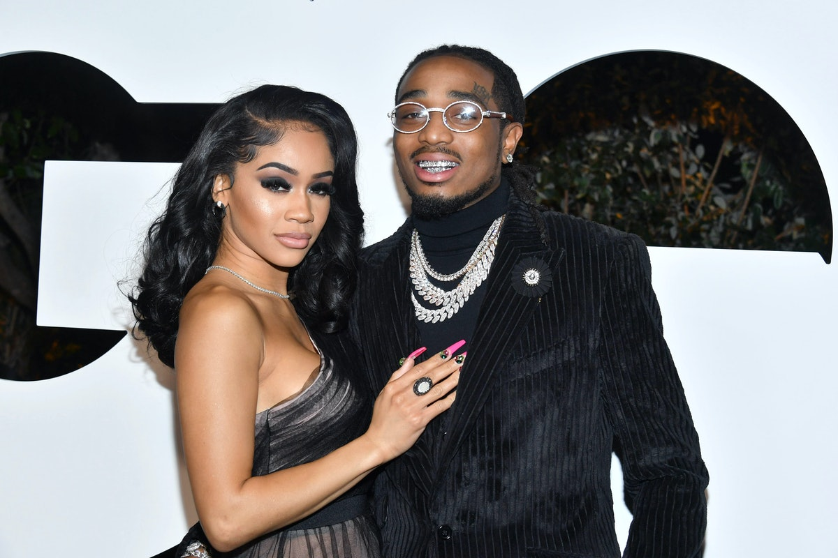 WEST HOLLYWOOD, CALIFORNIA - DECEMBER 05: (L-R) Saweetie and Quavo attend the 2019 GQ Men of the Yea...
