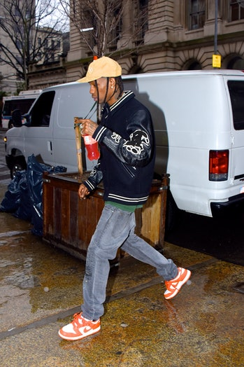 NEW YORK, NY - FEBRUARY 06:  Travis Scott seen out and about in Manhattan on  February 6, 2020 in New York City.  (Photo by Robert Kamau/GC Images)