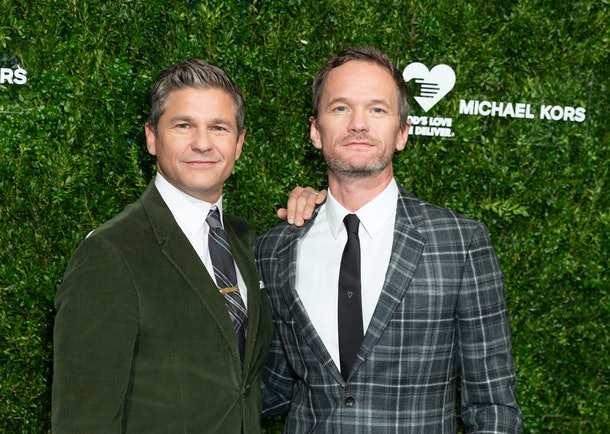 NEW YORK, UNITED STATES - 2019/10/21: David Burtka and Neil Patrick Harris attend the 13th Annual Golden Heart Awards at Cipriani South Street. (Photo by Lev Radin/Pacific Press/LightRocket via Getty Images)