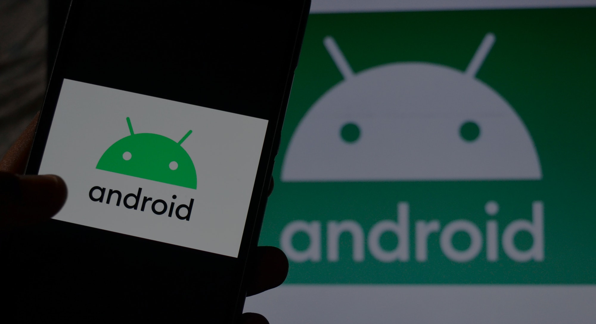 In this photo illustration Android 10 logo can be seen on a mobile screen as well as on a laptop screen, Kolkata, India, 24 August, 2019. Google announced on thursday that they will name Android Q as Android 10 as per media report.  (Photo by Indranil Aditya/NurPhoto via Getty Images)