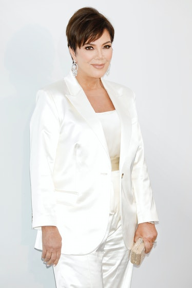CANNES, FRANCE - MAY 23: (EDITORS NOTE: Image has been digitally retouched) Kris Jenner arrives at t...