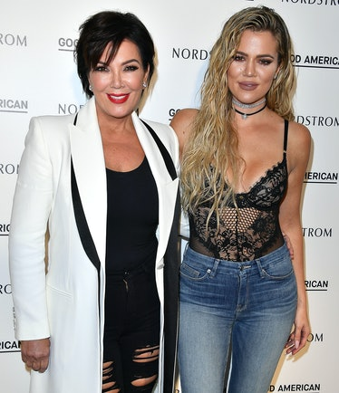 LOS ANGELES, CA - OCTOBER 18:  Kris Jenner and Khloe Kardashian attend Good American Launch Event at...