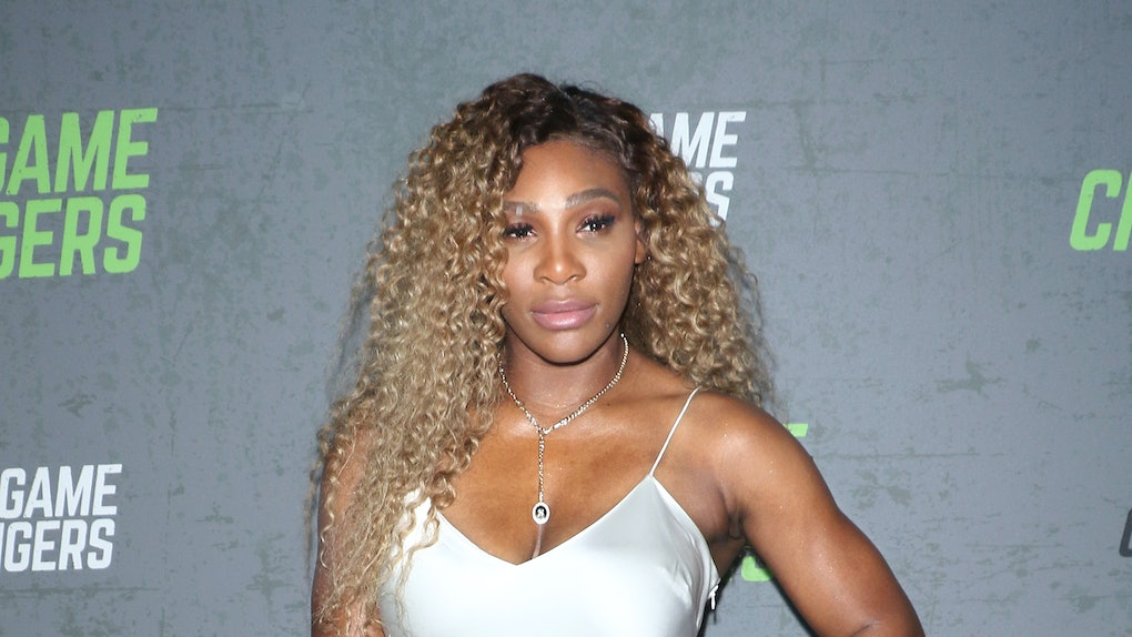"NEW YORK, NEW YORK - SEPTEMBER 09: Tennis player Serena Williams attends the ""The Game Changers"" New York premiere at Regal Battery Park 11 on September 09, 2019 in New York City. (Photo by Jim Spellman/Getty Images)"