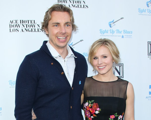 LOS ANGELES, CA - APRIL 05:  Actors Dax Shepard (L) and Kristen Bell (R) attend the 2nd Light Up The Blues concert an evening of music to benefit Autism Speaks at The Theatre At Ace Hotel on April 5, 2014 in Los Angeles, California.  (Photo by Paul Archuleta/FilmMagic)