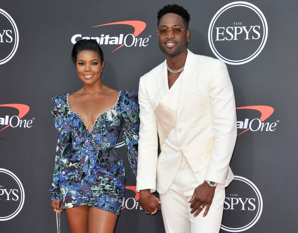 LOS ANGELES, CALIFORNIA - JULY 10: (L-R) Gabrielle Union and Dwyane Wade attend the 2019 ESPY Awards at Microsoft Theater on July 10, 2019 in Los Angeles, California. (Photo by Allen Berezovsky/WireImage)