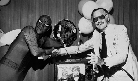 It was a touching moment for both father and son when Marvel comics Group's publisher Stan Lee and h...