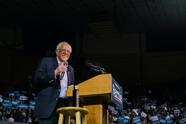 PHOENIX, AZ - MARCH 05: Democratic Presidential Candidate Sen. Bernie Sanders (I-VT) campaigns at Arizona Veterans Memorial Coliseum on March 5, 2020 in Phoenix, Arizona. Sanders encouraged attendees to get out the vote ahead of the March 17 Arizona primary. (Photo by Caitlin O'Hara/Getty Images)