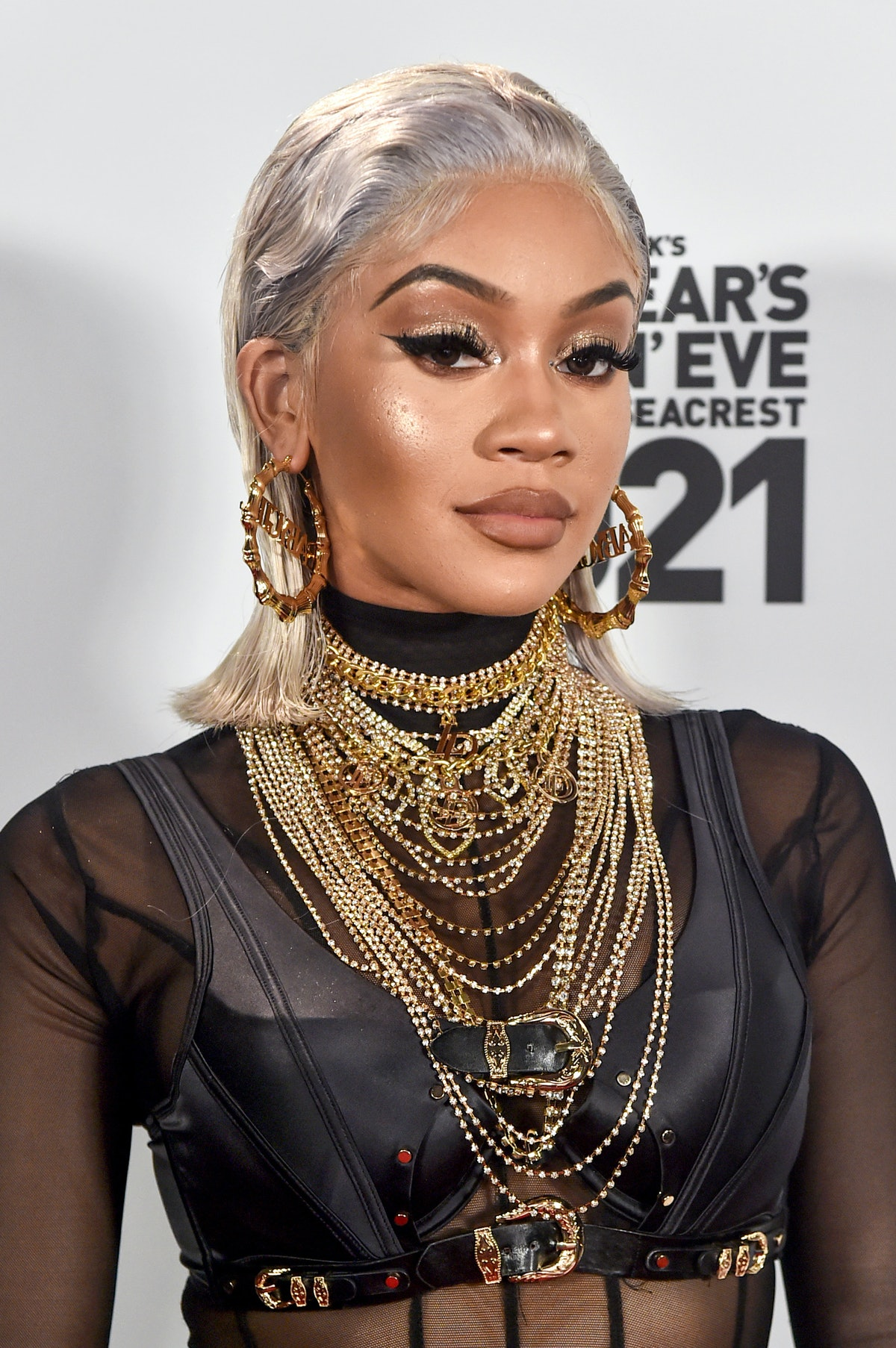 LOS ANGELES, CA – DECEMBER 31st: In this image released on December 31, Saweetie arrives at Dick Cla...