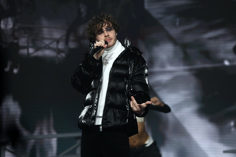 LOS ANGELES, CALIFORNIA - OCTOBER 26: In this image released on November 08, Jack Harlow performs at the MTV EMA's 2020 on October 26, 2020 in Los Angeles, California. The MTV EMA's aired on November 08, 2020. (Photo by Rich Fury/Getty Images for MTV)