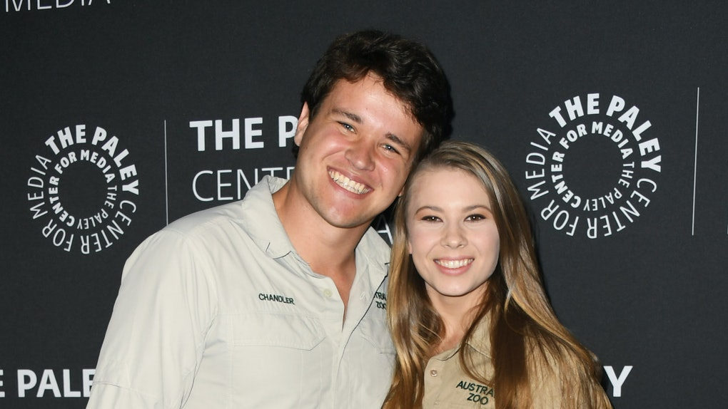 """BEVERLY HILLS, CALIFORNIA - MAY 03:  Chandler Powell and Bindi Irwin attend The Paley Center For Media Presents: An Evening With The Irwins: """"Crikey! It's The Irwins"""" Screening And Conversation at The Paley Center for Media on May 03, 2019 in Beverly Hills, California. (Photo by Jon Kopaloff/Getty Images)"""