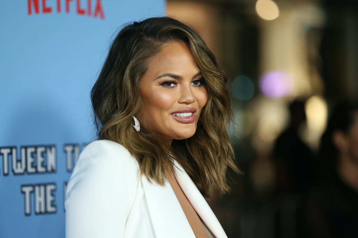 """HOLLYWOOD, CALIFORNIA - SEPTEMBER 16: Chrissy Teigen attends the LA premiere of Netflix's """"Between Two Ferns: The Movie"""" at ArcLight Hollywood on September 16, 2019 in Hollywood, California. (Photo by Phillip Faraone/FilmMagic)"""