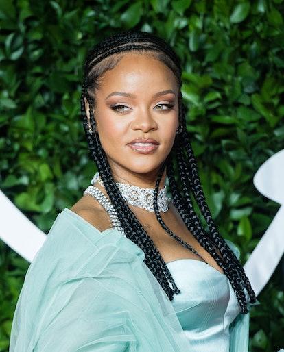 LONDON, ENGLAND - DECEMBER 02: Rihanna arrives at The Fashion Awards 2019 held at Royal Albert Hall ...