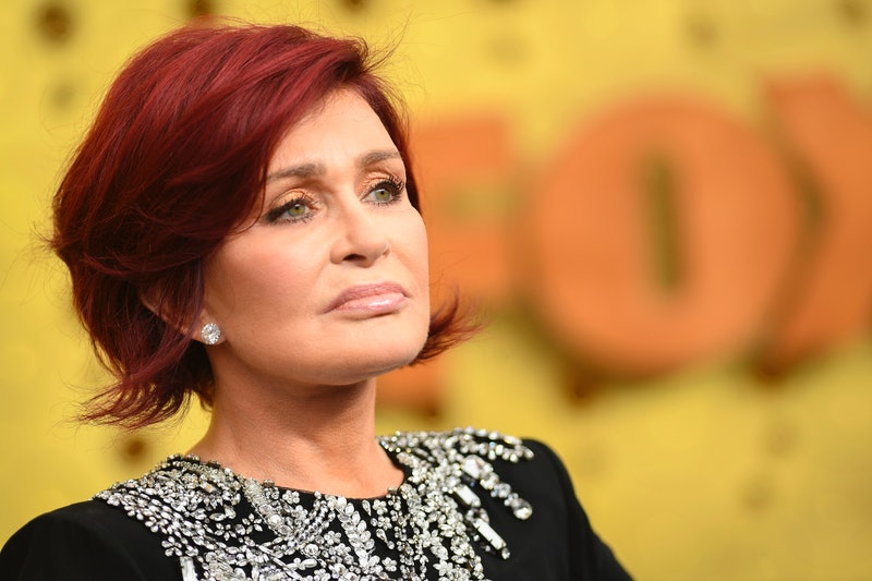 British personality Sharon Osbourne arrives for the 71st Emmy Awards at the Microsoft Theatre in Los Angeles on September 22, 2019. (Photo by VALERIE MACON / AFP)        (Photo credit should read VALERIE MACON/AFP via Getty Images)