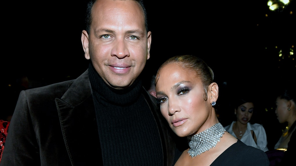 HOLLYWOOD, CALIFORNIA - FEBRUARY 07: (L-R) Alex Rodriguez and Jennifer Lopez attend the Tom Ford AW20 Show at Milk Studios on February 07, 2020 in Hollywood, California. (Photo by Kevin Mazur/Getty Images)Alex Rodriguez
