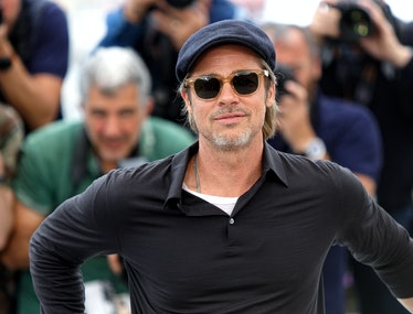 """CANNES, FRANCE - MAY 22: Brad Pitt attends the photocall for """"Once Upon A Time In Hollywood"""" during ..."""