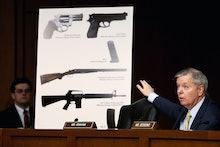 WASHINGTON, DC - JANUARY 30:  Senate Judiciary Committee member Sen. Lindsey Graham (R-SC) uses imag...