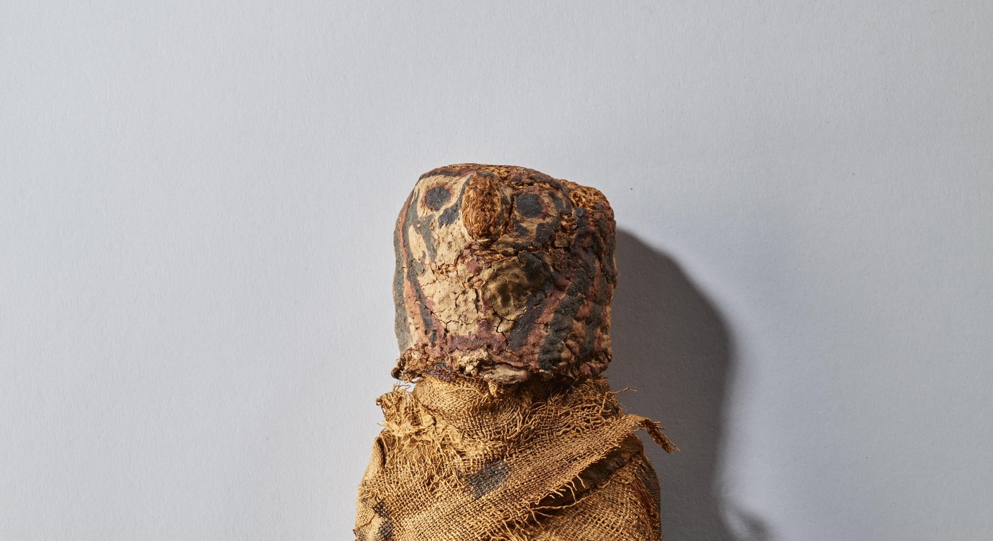 Mummified hawk. Egyptian. 1550-1370 B.C.E. mummified hawk. oil. resin. linen. pigment. 12-1/4 x 3-1/4 x 2-3/4 in. Ancient Art of the Mediterranean. (Photo by: Sepia Times/Universal Images Group via Getty Images)