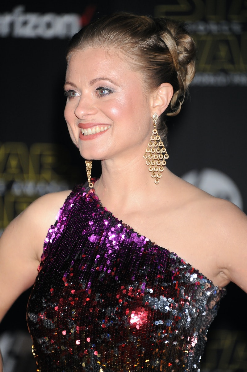 """Actress Bonnie Piesse arrives at the premiere of """"Star Wars: The Force Awakens in Hollywood. (Photo by Frank Trapper/Corbis via Getty Images)"""