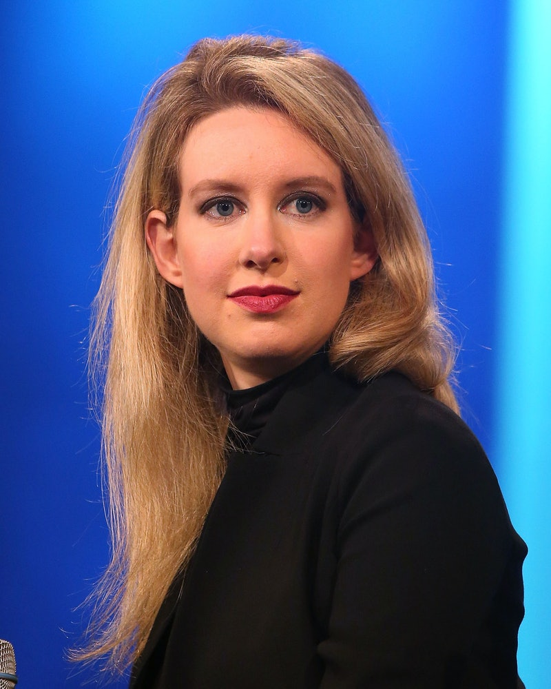 NEW YORK, NY - SEPTEMBER 29:  Theranos founder Elizabeth Holmes attends the 2015 Clinton Global Initiative Closing Plenary at Sheraton Times Square on September 29, 2015 in New York City.  (Photo by Taylor Hill/FilmMagic)