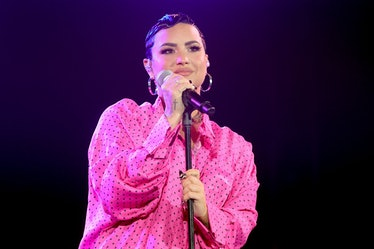 BEVERLY HILLS, CALIFORNIA - MARCH 22: Demi Lovato performs onstage during the OBB Premiere Event for...