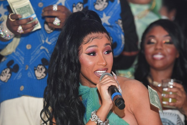 MIAMI, FL - FEBRUARY 03: Cardi B attends the Million Dollar Bowl at The Dome Miami on February 3, 2020 in Miami, Florida.(Photo by Prince Williams/Wireimage)