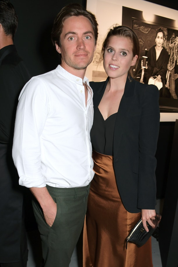 LONDON, ENGLAND -  JULY 10:   Edoardo Mapelli Mozzi and Princess Beatrice of York attend the Lenny Kravitz & Dom Perignon 'Assemblage' exhibition, the launch Of Lenny Kravitz' UK Photography Exhibition, on July 10, 2019 in London, England. (Photo by David M. Benett/Dave Benett/Getty Images for Dom Perignon)