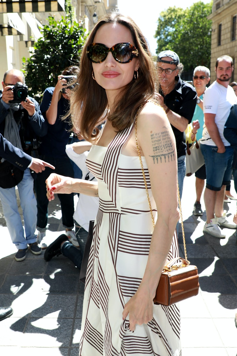 PARIS, FRANCE - JULY 09: Angelina Jolie arrives at her Hotel on July 09, 2019 in Paris, France. (Photo by Pierre Suu/GC Images)