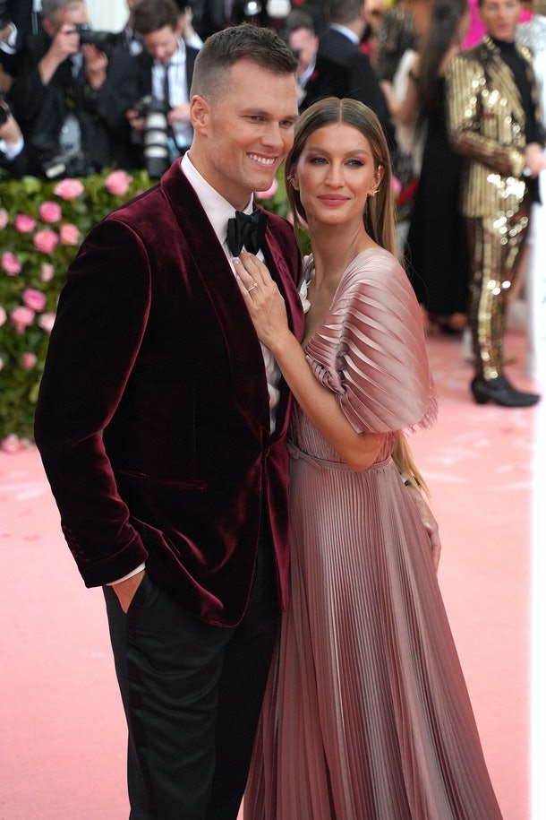 """NEW YORK, NY - MAY 6: Tom Brady and Gisele Bundchen attend The Metropolitan Museum Of Art's 2019 Costume Institute Benefit """"Camp: Notes On Fashion"""" at Metropolitan Museum of Art on May 6, 2019 in New York City. (Photo by Sean Zanni/Patrick McMullan via Getty Images)"""