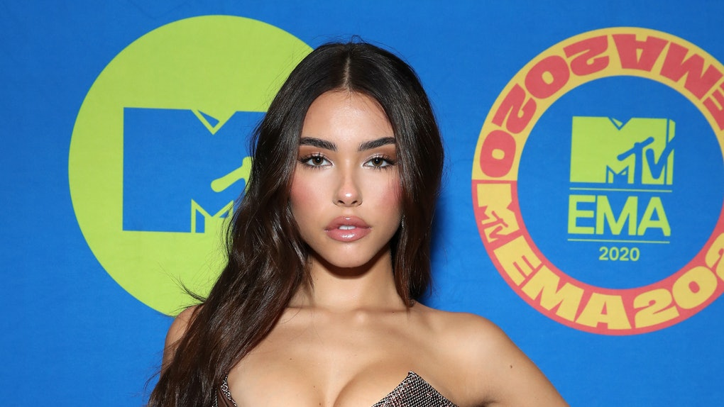 LOS ANGELES, CALIFORNIA - OCTOBER 30: (EDITORS NOTE: This image has been retouched at the request of artist's management.) In this image released on November 08, Madison Beer poses at the MTV EMA's 2020 on October 30, 2020 in Los Angeles, California. The MTV EMA's aired on November 08, 2020. (Photo by Rich Fury/Getty Images for MTV)