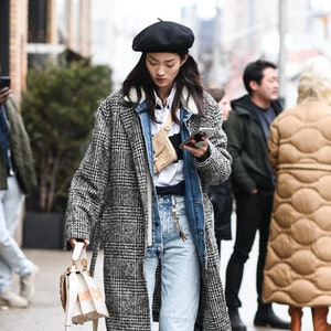 NEW YORK, NEW YORK - FEBRUARY 11: Model Hyun Ji Shin is seen outside the Coach 1941 show during New York Fashion Week: A/W20 on February 11, 2020 in New York City. (Photo by Daniel Zuchnik/Getty Images)