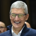 NEW YORK, NY - OCTOBER 30: Tim Cook, CEO of Apple, laughs during a launch event unveiling new products at the Brooklyn Academy of Music on October 30, 2018 in the Brooklyn borough of New York City. Apple debuted a new MacBook Pro, Mac Mini and iPad Pro. (Photo by Stephanie Keith/Getty Images)
