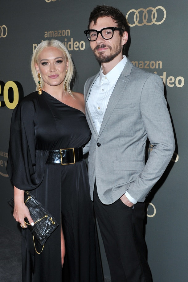 BEVERLY HILLS, CALIFORNIA - JANUARY 06: Hilary Duff (L) and Matthew Koma Amazon Prime Video's Golden Glove Awards after party at The Beverly Hilton Hotel on January 06, 2019 in Beverly Hills, California. (Photo by Allen Berezovsky/WireImage,)