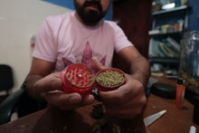 MEXICO CITY, MEXICO - MARCH 13: Detail as Cesar, 36, prepares marijuana joints for recreational use ...