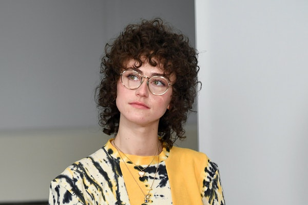 NEW YORK, NEW YORK - FEBRUARY 15: Ella Emhoff speak at NYFW The Talks during New York Fashion Week: The Shows February 2021 at Spring Studios on February 15, 2021 in New York City. (Photo by Dimitrios Kambouris/Getty Images for NYFW: The Shows)