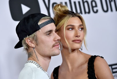 """LOS ANGELES, CALIFORNIA - JANUARY 27: Justin Bieber and Hailey Bieber attend the Premiere of YouTube Original's """"Justin Bieber: Seasons"""" at Regency Bruin Theatre on January 27, 2020 in Los Angeles, California. (Photo by Axelle/Bauer-Griffin/FilmMagic)"""