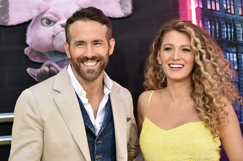 "NEW YORK, NY - MAY 02:  Ryan Reynolds and Blake Lively attend the premiere of ""Pokemon Detective Pikachu"" at Military Island in Times Square on May 2, 2019 in New York City.  (Photo by Steven Ferdman/Getty Images)"
