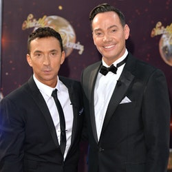 "BOREHAMWOOD, ENGLAND - SEPTEMBER 01:  Bruno Tonioli and Craig Revel Horwood attend the red carpet launch of ""Strictly Come Dancing 2015"" at Elstree Studios on September 1, 2015 in Borehamwood, England.  (Photo by Anthony Harvey/Getty Images)"
