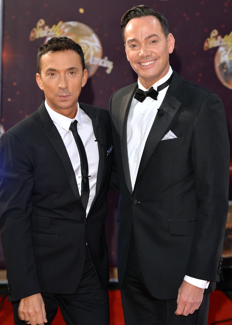 """BOREHAMWOOD, ENGLAND - SEPTEMBER 01:  Bruno Tonioli and Craig Revel Horwood attend the red carpet launch of """"Strictly Come Dancing 2015"""" at Elstree Studios on September 1, 2015 in Borehamwood, England.  (Photo by Anthony Harvey/Getty Images)"""