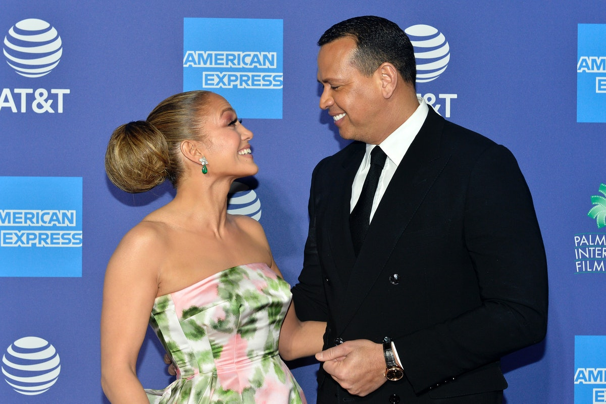 PALM SPRINGS, CALIFORNIA - JANUARY 02: Jennifer Lopez and Alex Rodriguez arrive at the 2020 Annual P...