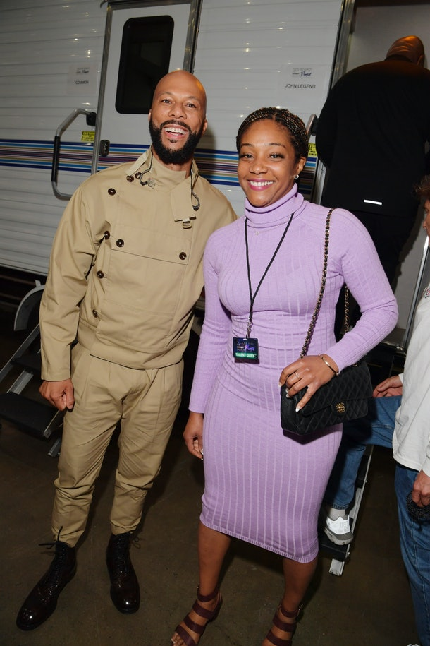 """LOS ANGELES, CALIFORNIA - JANUARY 28: Common and Tiffany Haddish attend the 62nd Annual GRAMMY Awards  """"Let's Go Crazy"""" The GRAMMY Salute To Prince on January 28, 2020 in Los Angeles, California. (Photo by Lester Cohen/Getty Images for The Recording Academy)"""