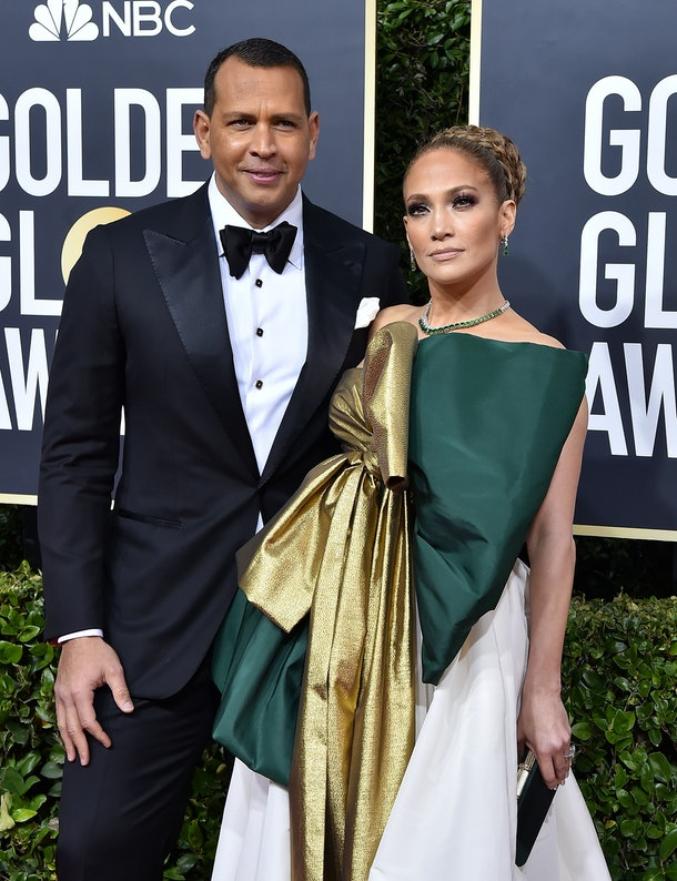 BEVERLY HILLS, CALIFORNIA - JANUARY 05: Alex Rodriguez and Jennifer Lopez attend the 77th Annual Golden Globe Awards at The Beverly Hilton Hotel on January 05, 2020 in Beverly Hills, California. (Photo by Axelle/Bauer-Griffin/FilmMagic)