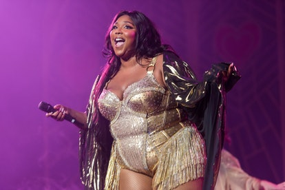 NEW YORK, NEW YORK - SEPTEMBER 22: Lizzo performs during her 'Cuz I Love You Too Tour' at Radio City Music Hall on September 22, 2019 in New York City. (Photo by Steven Ferdman/Getty Images)