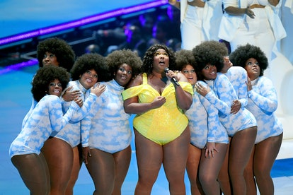 NEWARK, NEW JERSEY - AUGUST 26: Lizzo performs onstage during the 2019 MTV Video Music Awards at Prudential Center on August 26, 2019 in Newark, New Jersey. (Photo by Mike Coppola/Getty Images for MTV)