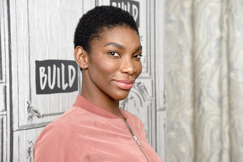NEW YORK, NEW YORK - JANUARY 23: Actress Michaela Coel visits the Build Brunch  to discuss the series 'Black Earth Rising' at Build Studio on January 23, 2019 in New York City. (Photo by Gary Gershoff/WireImage )