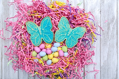 Use Easter grass for a beautiful Easter dessert display.