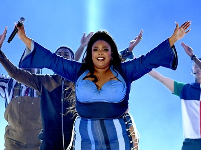 SANTA MONICA, CALIFORNIA - JUNE 15: Lizzo performs onstage during the 2019 MTV Movie and TV Awards at Barker Hangar on June 15, 2019 in Santa Monica, California. (Photo by Kevin Winter/Getty Images for MTV)Lizzo