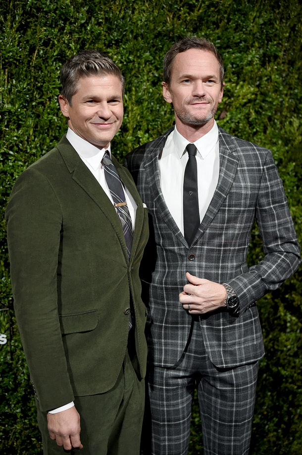 NEW YORK, NEW YORK - OCTOBER 21: David Burtka and Neil Patrick Harris attend God's Love We Deliver, Golden Heart Awards on October 21, 2019 in New York City. (Photo by Dimitrios Kambouris/Getty Images for Michael Kors)